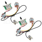 2 sets 3 Way Blade Switch Two Pickup Guitar Wiring Harness 500K w/ Humbuckers
