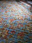 Pottery Barn Quilt .. Light Blues & Reds.Oranges and Yellows...twin..great color
