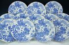 ROYAL CROWN DERBY CHINA AVES BLUE BIRDS 9