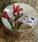 222 FIFTH Set of 4 Appetizer Snack Noella Christmas Holiday Plates Dishes