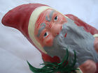 GERMAN PAPER MACHE CANDY CONTAINER  .........  SANTA  BELSNICKLE IN RED
