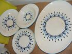 Four Serving Pieces Swiss Alpine by Marcrest dishes 1950's Retro Kitchen