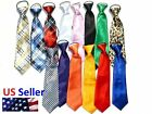 Pre tied Elastic Neck Adjustable Tie Baby Toddler Kids Boys Girls Child USA