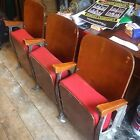 Vintage Antique 20th Century 3 & 2 Seater 1950s French Cinema Seats