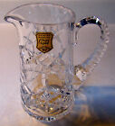 Vintage HAND CUT Lead Crystal Creamer Pitcher MADE IN POLAND 24% PbO 5-1/2