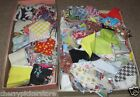 Vintage Quilt Fabric Pieces Squares Triangles 3 lbs
