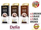 DELIA HENNA / COLOR CREAM EYEBROW PROFESSIONAL TINT KIT SET x 12, Free delivery