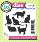 Cat Set 6 Cats American Made Steel Dies by Impression Obsession DIE083 K New