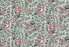 Circa 1825 Mixed Flowers Seafoam Quilt Fabric - Free Shipping - 1 Yard