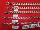 3 4 5 6 7 9 10 12mm STAINLESS STEEL SILVER CUBAN CURB LINK ROPE CHAIN 7 44