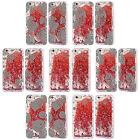 HEAD CASE SILVER HOLIDAY RED LIQUID GLITTER CASE FOR APPLE iPHONE SAMSUNG PHONES