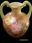Vintage Bud Vase Urn Style Double Handled Hand Painted Germany Floral 5