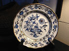 Meissen Dinner Plate Blue Onion Gold Gild floral on White, Hand Painted 2 of 4