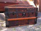 Wood Steamer Trunk Blanket Chest with Lift Out Tray