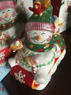 Fitz and Floyd Frosty Friends Snowman Lidded Box Excellent w/ Box