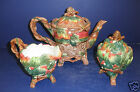 Fitz and Floyd Christmas Lodge Teapot, Sugar & Creamer-New in Boxes-19/1362&1364