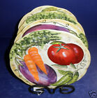Fitz and Floyd  Le Marche Set of 4 Plates-  38/303- Carrot & Peas- New