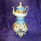Antique Teapot  Warmer Stand Old Paris French Porcelain TISANIERE VEILLESE