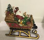 Fitz And Floyd Christmas Lodge Sleigh Musical•Holiday Musicals•in Box•