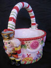 Fitz and Floyd Essentials Nutcracker Sweets Basket Christmas Candy