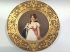 Antique Royal Vienna Hand Painted Portrait Plate Queen Louise of Prussia