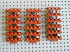 LEGO Stairs Castle City Town Pirate Minifigure Parts x3 Red Brown EXCELLENT COND
