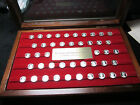 Franklin Mint The Kings And Queens Of England Silver Mini-Coin Set Complete 44