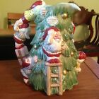 Vintage FITZ and FLOYD   Santa  Christmas Tree  pitcher  MINT Condition