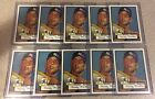 10 Card Lot Of 1952 Topps Mickey Mantle Rookie Reprint Card #311 Yankees Mint