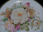 shabby cottage country french pink roses decor antique cabinet or wall plate