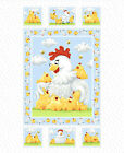 Chicks Quilt Panel DIY Quilt Panel Fabric 36x43 inches Susybee
