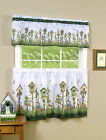 Home Sweet Home Complete 3 Pc Kitchen Curtain Set Assorted Sizes