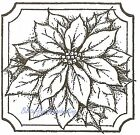 Single Poinsettia Christmas Wood Mounted Rubber Stamp NORTHWOODS NEW CC8240