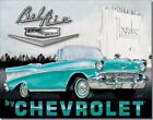 1957 Chevrolet Chevy Bel Air Convertible Nostalgic Drive In Tin Metal Sign