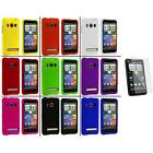 Color Hard Snap On Rubberized Case Cover+3X LCD Protector for HTC Sprint EVO 4G