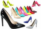 NEW Womens Pointy Toe Stiletto Chunky High Heel Dress Pump Shoes Size 55 11