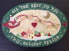 Fitz and Floyd-Christmas Santa-Snack/Canape Plate-Retired