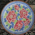 Lovely Round Platter or Plate with Peonies  - Made in Japan