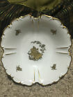 VINTAGE BAVARIA  FOOTED  BOWL IN ROYAL ROSLYN PATTERN MADE IN GERMANY