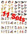 11 sets Disney Princess Mickey Pooh Water Transfer Nail Sticker Decals Set A
