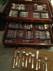 Antique Sterling Silver Camusso silverware -  Set of 206 pieces (about 11.5 Kgs)