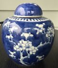 Blue and White Plum flower Ginger Jar w/ Double Ring