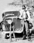 Young CLYDE BARROW Gun Pose Glossy 8x10 Photo Poster Print Bonnie Parker