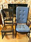 2 Antique Victorian Pressed Back Rocking Chair's Need Refurbished