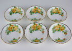 6 x DESSERT BOWLS / FRUIT NAPPIES Royal Albert YELLOW TEA ROSE vintage England