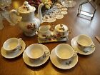 12 PIECE CHILDS/CHILDREN/GIRL ROYAL SEALY CHINA TEA SET, MOSS ROSE PATTERN