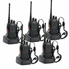 Walkie Talkie 2 Two Way Ham Radio FRS GMRS 5 Pack Motorola Portable Handheld New