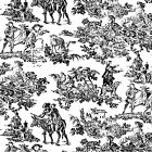 Toile Cover A Card Background Unmounted Rubber Stamp Impression Obsession New