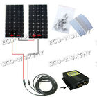 300Watt Off Grid Kit 2160W Mono Solar Panel w MPPT Controller for Boat Home RV
