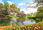[CHAMBERART] Jigsaw Puzzle 1000 Pieces Lake Tulip Garden CA1122 Gift Toys.